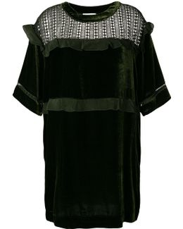 Ruffle Mesh Dress