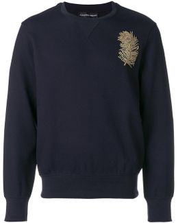 Peacock Feather Patch Sweatshirt