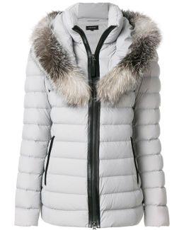 Fur Trimmed Padded Coat