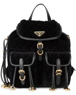 Embellished Quilted Backpack