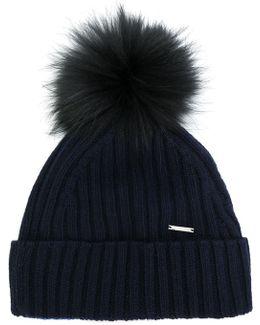Ribbed Bobble Hat