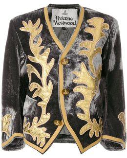 Cropped Patterned Jacket
