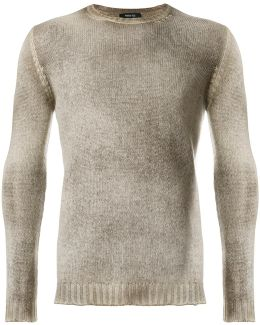 Stonewashed Crew Neck Sweater
