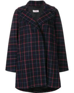 Check Flared Coat