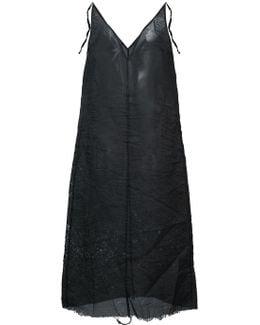 Raw Edge Sheer Dress