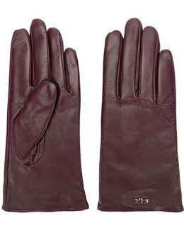Logo Plaque Gloves