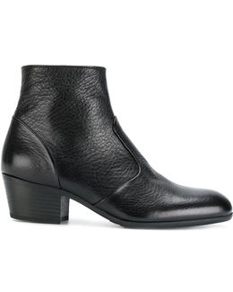 Pebbled Ankle Boots