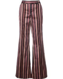 Striped Flared Trousers