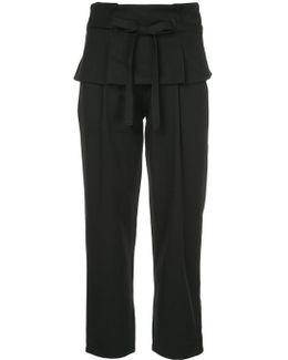 Overlay Waistline Cropped Trousers