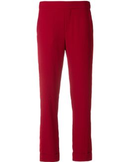 Turn-up Cuff Cropped Trousers