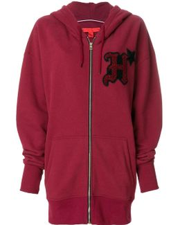 Zipped Logo Hoodie