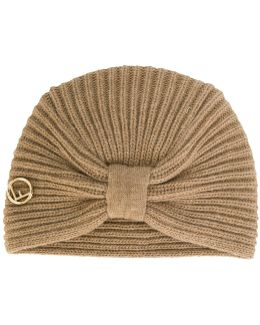 Bow Wrap Knitted Hat