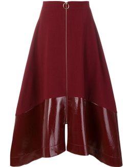 Flared Zipped Skirt