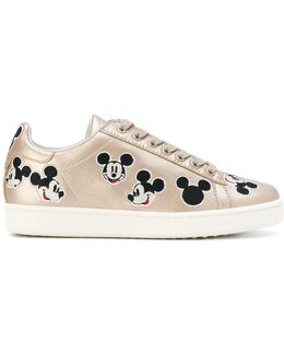 Mickey Embroidered Sneakers