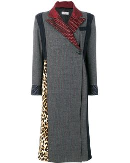 Contrast Panelled Coat