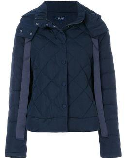 Contrast Stripe Puffer Jacket