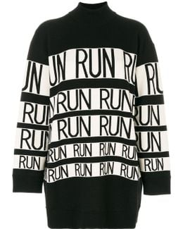 Run Oversized Roll Neck Jumper