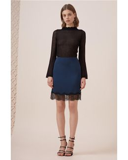 Stop Me Lace Trim Skirt