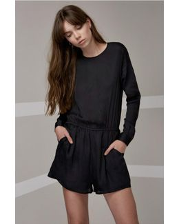 Time Stand Still Long Sleeve Playsuit