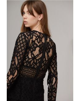 Bridges Lace Long Sleeve Top