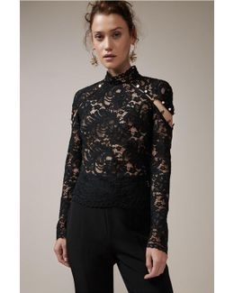 Star Crossed Long Sleeve Lace Top