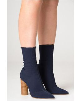 Ribbed Sock Boot