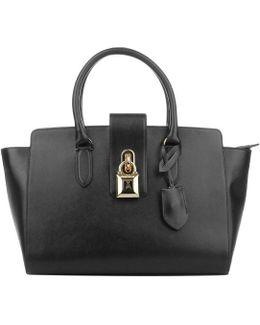 Large Padlock Handbag Black