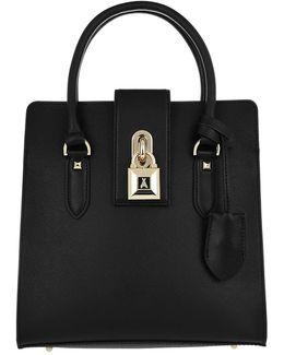 Medium Padlock Handbag Black