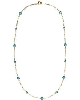 Aqua Gold-tone Necklace