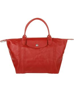 Le Pliage Cuir Red Cherry