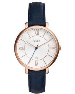 Jacqueline Watch Leather Navy