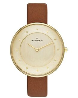 Gitte Leather Gold/brown
