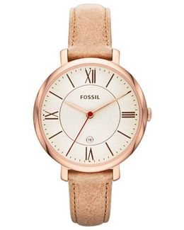 Jacqueline Watch Leather Rose Sand