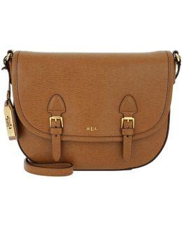 Leather Messenger Bag Lauren Tan/cocoa