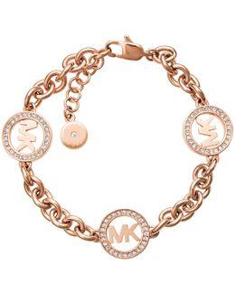 Chain Link Bracelet Logo Rosé Gold-tone