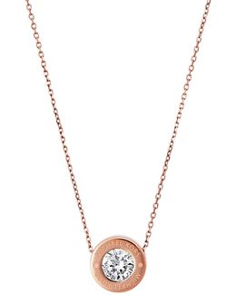 Rosegold-tone Logo Necklace