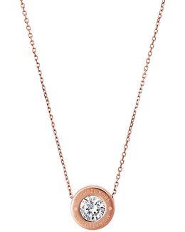 Rosegold-tone Logo Necklace