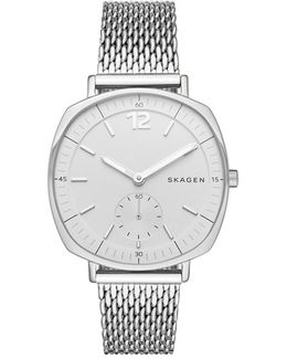 Rungsted Watch Milanaise Stainless Steel Silver-tone