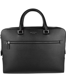 Harrison Large Double Gusset Briefcase Black