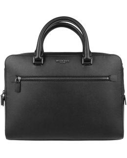 Harrison Md Ft Zip Briefcase Black