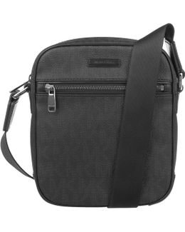 Jet Set Mens Crossbody Bag Black