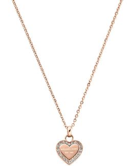 Ladies Brilliance Necklace Rosegold