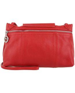 Le Pliage Cuir Messenger Crossbody Bag Red