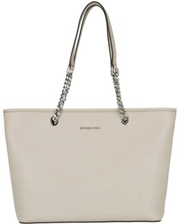 Jet Set Travel Chain Tz Multifunction Tote Leather Cement