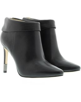 Lea Leather Ankle Boot Black