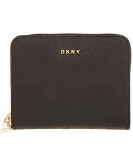 Bryant Park Saffiano Small Carryall Wallet Black