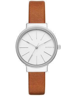 Ladies Ancher Leather Watch Brown