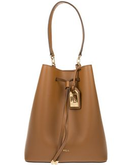Debby Drawstring Bucket Bag Field Brown/monarch Orange