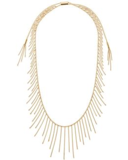 Modern Fringe Necklace Gold