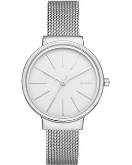 Ladies Ancher Milanaise Watch Silver/silver